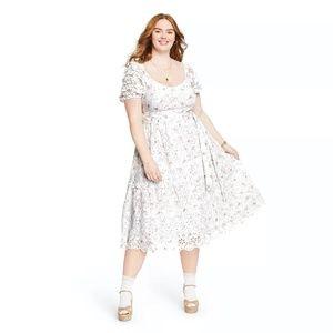 LoveShackFancy Floral Clementine Eyelet Dress 18W